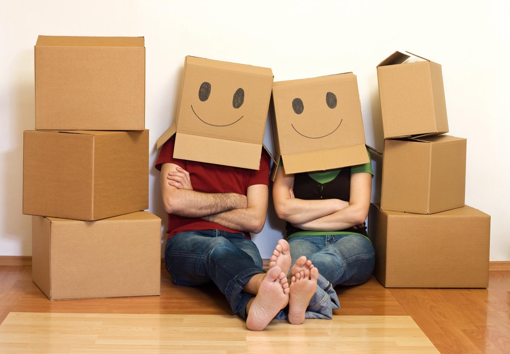 Couple cartons déménagement