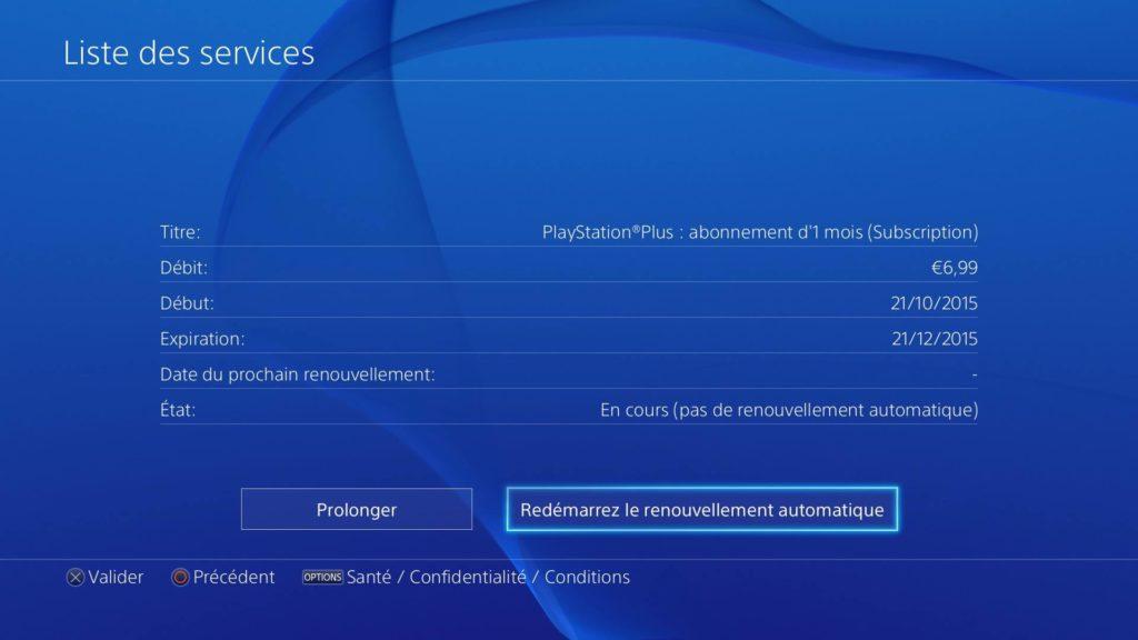 Désabonnement playstation Plus annuler abonnement - étape 7