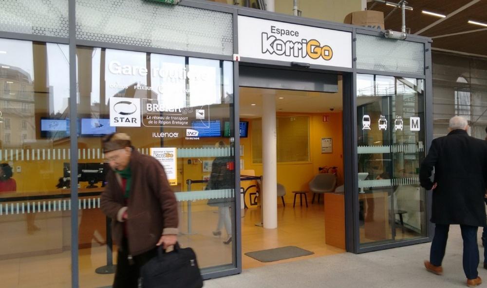 Nouvel espace korrigo à la gare de Rennes