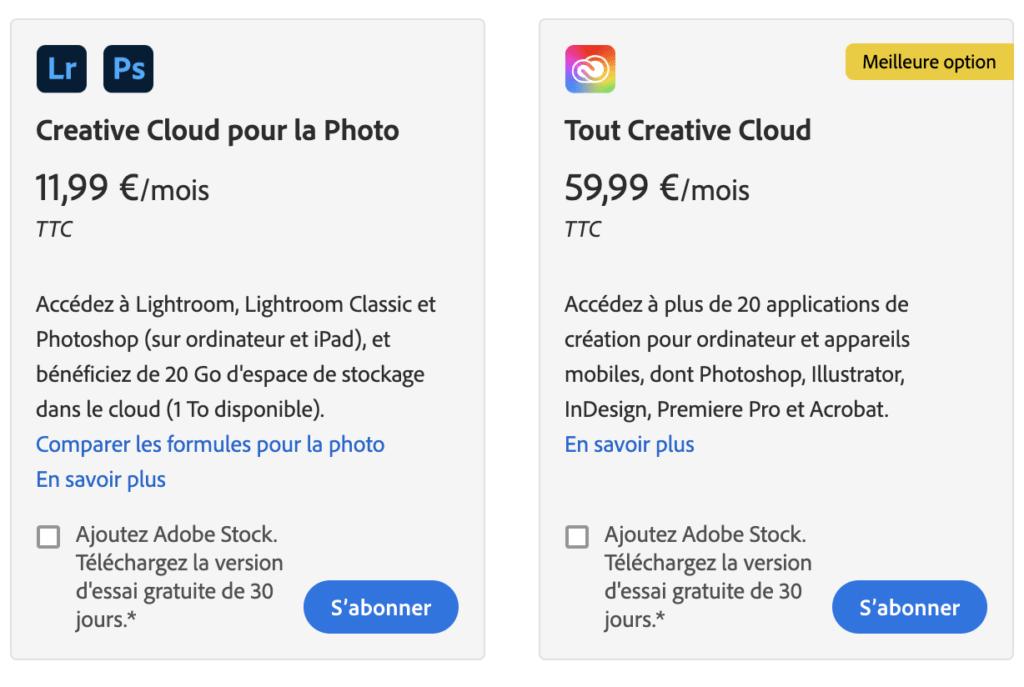 Résiliation Adobe Creative Cloud plateforme facilement
