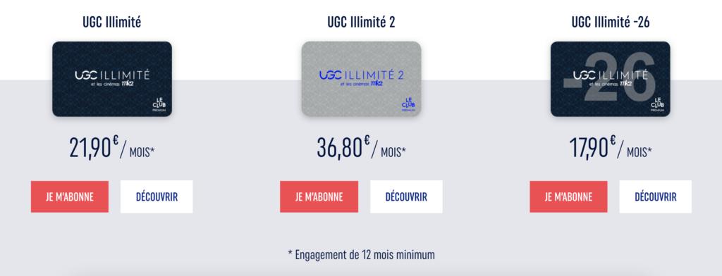 Abonnements UGC Illimités