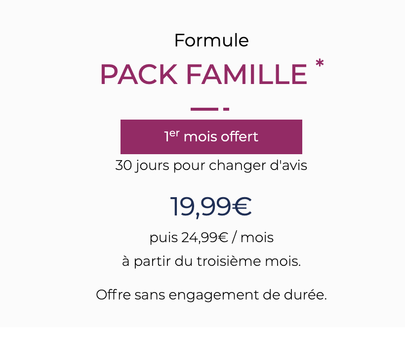 pack famille sfam
