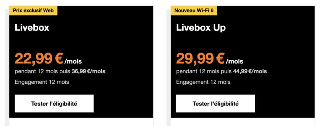 offres livebox adsl orange