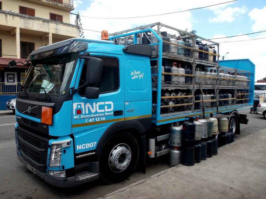 Gaz acheminé camion France