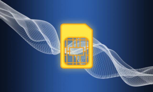 Photo d'une carte SIM virtuelle : L'eSIM